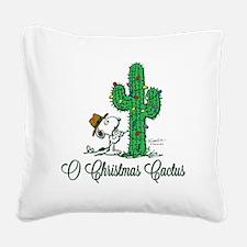 O Christmas Cactus Square Canvas Pillow
