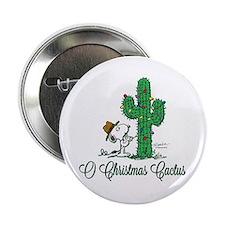 """O Christmas Cactus 2.25"""" Button"""