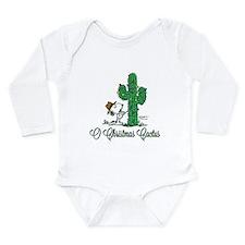 O Christmas Cactus Long Sleeve Infant Bodysuit