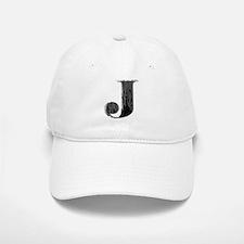Grungy letter J Baseball Cap