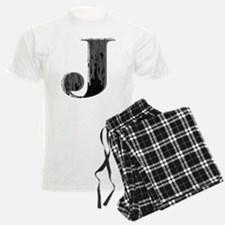 Grungy letter J Pajamas