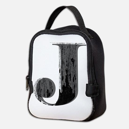 Grungy letter J Neoprene Lunch Bag