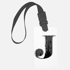 Grungy letter J Luggage Tag