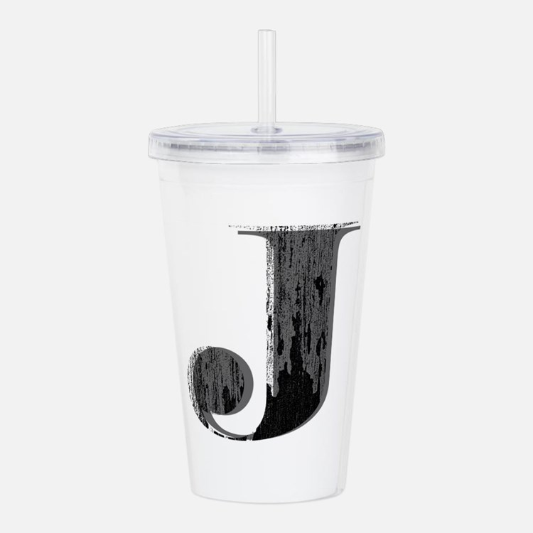 Grungy letter J Acrylic Double-wall Tumbler