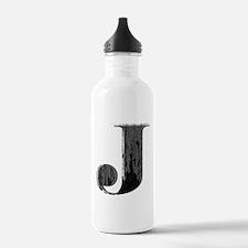 Grungy letter J Water Bottle
