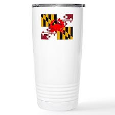 Maryland Crab Flag Travel Mug