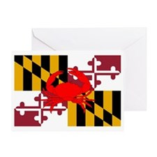 Maryland Crab Flag Greeting Card
