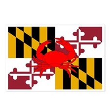 Maryland Crab Flag Postcards (Package of 8)