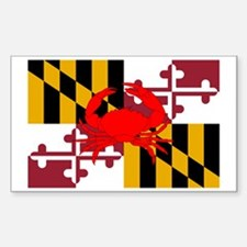 Maryland Crab Flag Decal