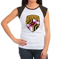 Maryland State Police Women's Cap Sleeve T-Shirt