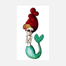 El Dia de Los Muertos Mermaid Decal