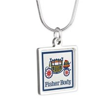 Fisher Body Silver Square Necklace