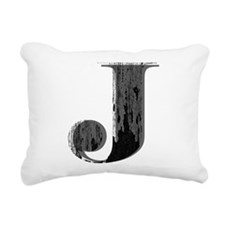 Grungy letter J Rectangular Canvas Pillow