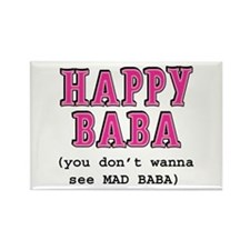 Happy Baba... Rectangle Magnet