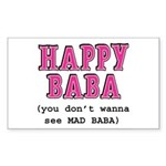 Happy Baba... Sticker (Rectangle)