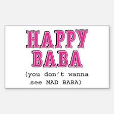 Happy Baba... Sticker (Rectangle)