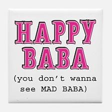 Happy Baba... Tile Coaster