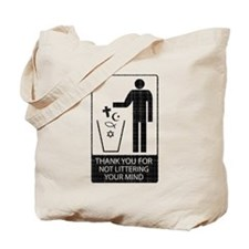Anti-Religious (vintage look) Tote Bag