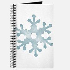 Snowflake Blue Journal