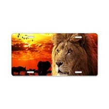 Lion King Aluminum License Plate