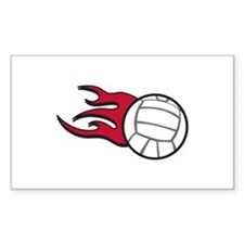 Volleyball Flames Decal