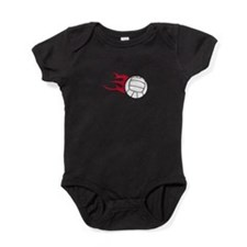 Volleyball Flames Baby Bodysuit