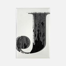 Grungy letter J Magnets
