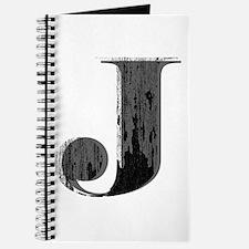 Grungy letter J Journal