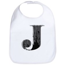 Grungy letter J Bib