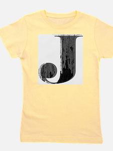 Grungy letter J Girl's Tee