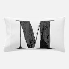 Vintage grungy letter M Pillow Case