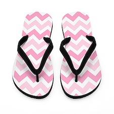 Pink Chevron Flip Flops