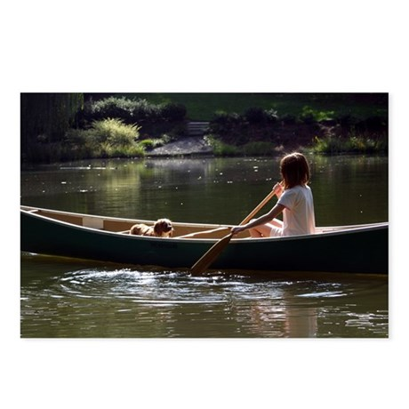 Canoeing Cavalier Postcards (Package of 8)
