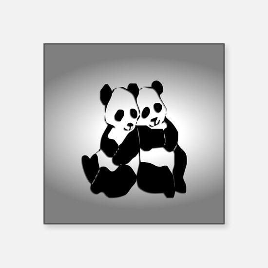 bear window clings panda bumper stickers cafepress