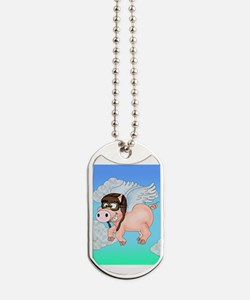 Flying Piggy Dog Tags