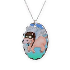 Flying Piggy Necklace