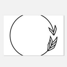 Outlined Arrow Circle Frame Postcards (Package of