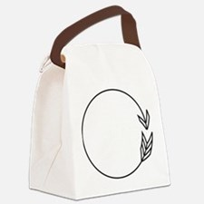 Outlined Arrow Circle Frame Canvas Lunch Bag