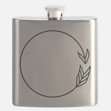 Outlined Arrow Circle Frame Flask