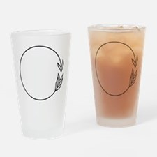 Outlined Arrow Circle Frame Drinking Glass