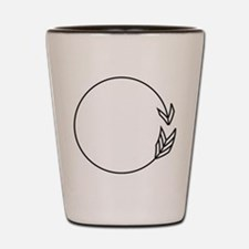 Outlined Arrow Circle Frame Shot Glass