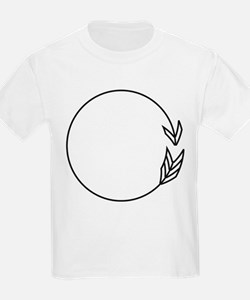 Outlined Arrow Circle Frame T-Shirt