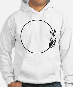 Outlined Arrow Circle Frame Hoodie