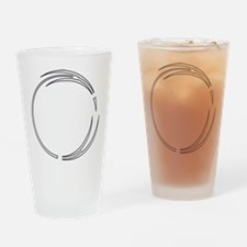 Arrow Outlined Pointed Circle Frame Drinking Glass