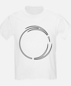 Arrow Outlined Pointed Circle Frame T-Shirt