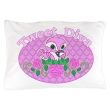 Tweet Diva Pillow Case