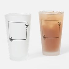 Square Arrow Thorn Frame Drinking Glass