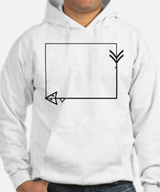 Square Arrow Thorn Frame Hoodie