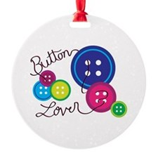 Button Lover Ornament