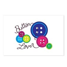 Button Lover Postcards (Package of 8)